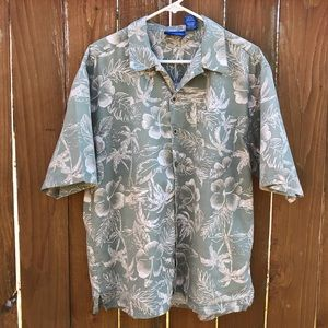 Ocean Pacific OP Aloha Hawaiian Shirt Size Large
